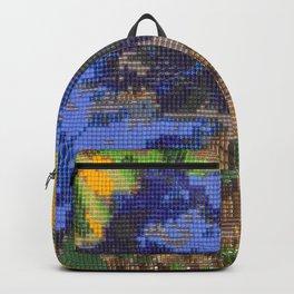 #012 - Beaded Iris Backpack