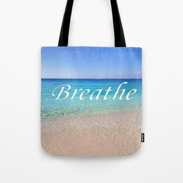 Breathe Cayman Relaxing Beach Waves Tote Bag