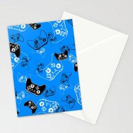 Video Gamer Blue Stationery Cards