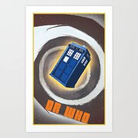 dr who Art Prints featuring Dr Who by pHoran