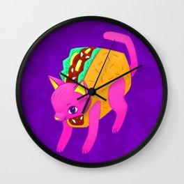 Taco Cat Wall Clock
