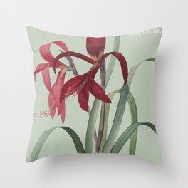 Victoria's Garden, feat. Amaryllis Formosissima, Magazine Cover Throw Pillow