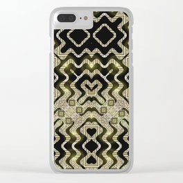 Tribal Gold Glam Clear iPhone Case