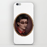 crowley iPhone & iPod Skins featuring Crowley (white) by Abbi Laura