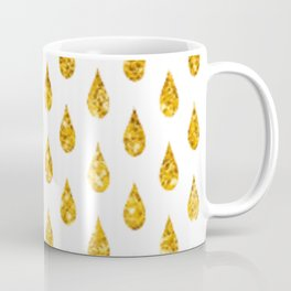 gold raindrops Coffee Mug