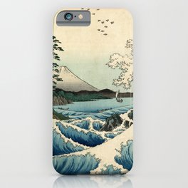 Hiroshige - 36 Views of Mount Fuji (1858) - 23: The Sea off Satta in Suruga Province iPhone Case