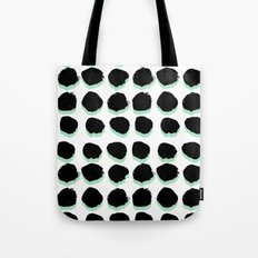 Abstract painted Dots minimal black and white Tote Bag