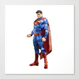 Superman Triangulation Canvas Print