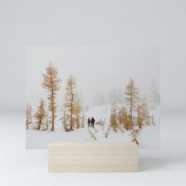 Walking in Larch Land Mini Art Print