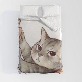 cat : hmmmmm! Duvet Cover