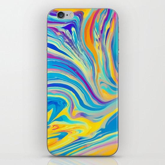 rainbow swirl iPhone & iPod Skin