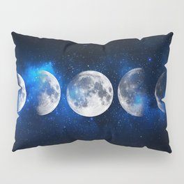 Phases of the Moon Blue Pillow Sham