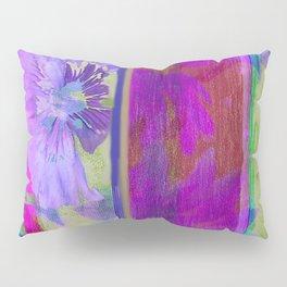 Purple Floral Pattern Pillow Sham