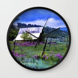 My Purple Dames Rocket Ranch Wall Clock