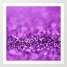 Magnetic Purple - an abstract photograph Art Print