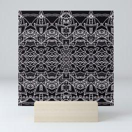 Pattern Black ll Mini Art Print