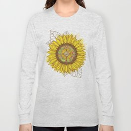 Sunflower Compass Long Sleeve T-shirt