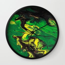 Abstract Jamaican Flag Wall Clock