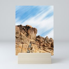 Rocky landscape in the coast of Brittany II Mini Art Print
