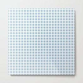 Grid Pattern 312 Pale Blue Metal Print