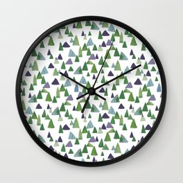 Abstract Watercolor Forest Wall Clock