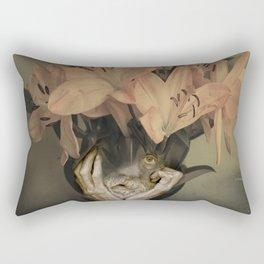The face of fowers Rectangular Pillow