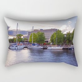 Downtown Portsmouth Boats at Sunset Rectangular Pillow