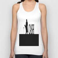 johnny cash Tank Tops featuring CASH by shannon's art space