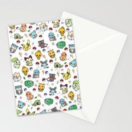 Chibi Kawaii poke characters Stationery Cards