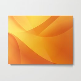 Orange Wallpaper Metal Print
