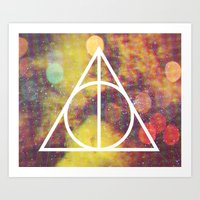 deathly hallows Art Prints featuring Deathly Hallows by Michal