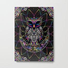 Electro Owl Metal Print