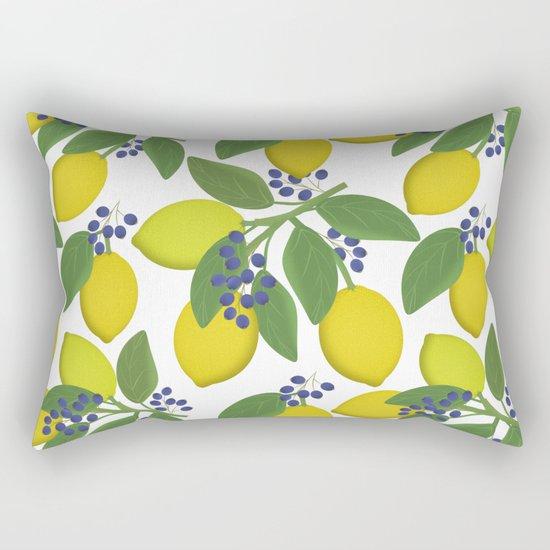 Sprigs of lemon . Rectangular Pillow