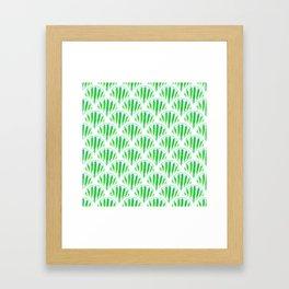 Beautiful Green Scalloped Framed Art Print