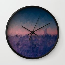 End of the sky Wall Clock