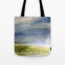 Sea Shore Watercolor Ocean Landscape Nature Art Tote Bag
