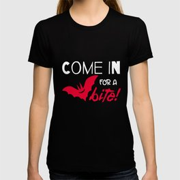 Halloween T-shirt/ Come in for a Bite T-shirt