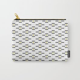 Black lines and golden dots pattern Carry-All Pouch