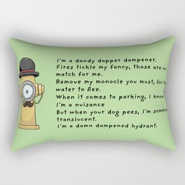 Dapper Hydrant Rectangular Pillow