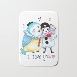 Pierrot I love you! Bath Mat