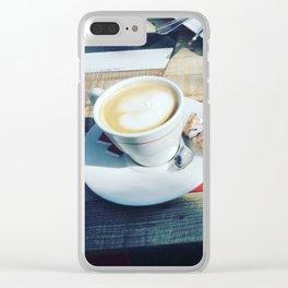 Coffee break in France Clear iPhone Case