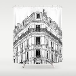 Parisian Facade Shower Curtain
