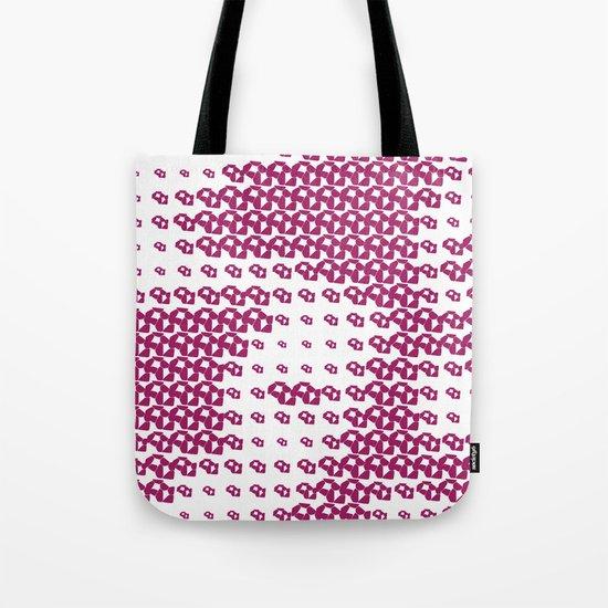 Pink Pebble Pattern Tote Bag