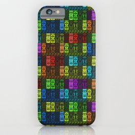 Tikis in a Rainbow of Colors! iPhone Case