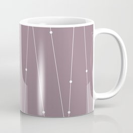 Contemporary Intersecting Vertical Lines in Musk Mauve Coffee Mug