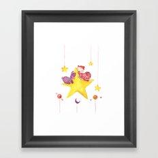 Baby star Framed Art Print