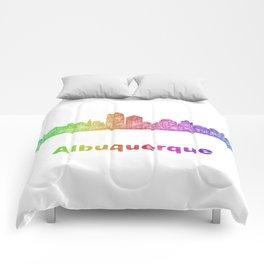 Rainbow Albuquerque skyline Comforters