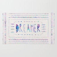 dreamer Area & Throw Rugs featuring DREAMER by Bianca Green