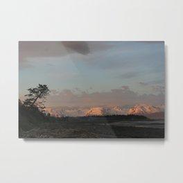 Sunset on Bishop's Beach - Homer, AK Metal Print