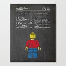Lego Man Patent - Chalk Canvas Print